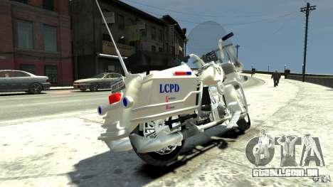 Police Bike para GTA 4 traseira esquerda vista
