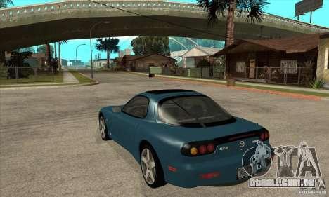 Mazda RX-7 - Stock para GTA San Andreas traseira esquerda vista
