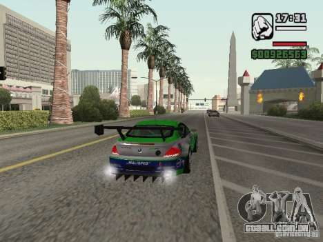 Alpina B6 GT3 para GTA San Andreas vista traseira