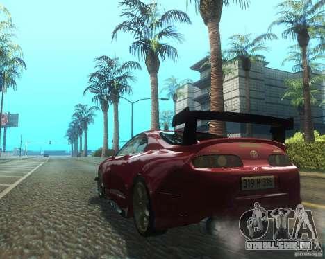 Toyota Supra Light Tuned para GTA San Andreas traseira esquerda vista