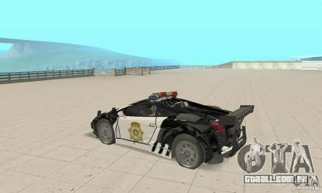 Lamborghini Gallardo Cop V1.0 para GTA San Andreas vista direita