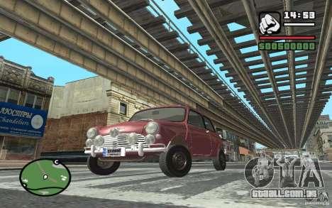Mini Cooper S para GTA San Andreas esquerda vista