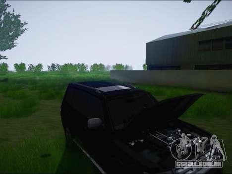 Mitsubishi Pajero 2012 para GTA San Andreas vista interior