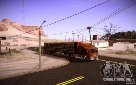 Freightliner Argosy para GTA San Andreas traseira esquerda vista