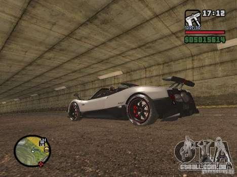 Pagani Zonda Cinque Roadster V2 para GTA San Andreas esquerda vista