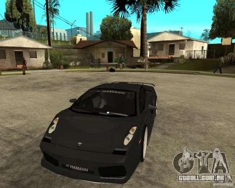 Lamborghini Gallardo HAMANN Tuning para GTA San Andreas vista traseira