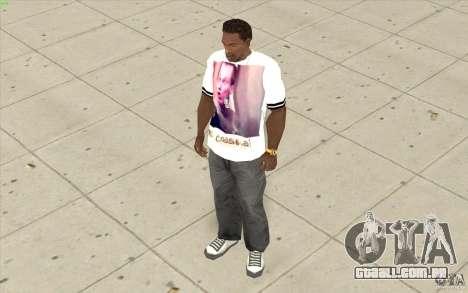 T-shirt: Exuberante Slavik para GTA San Andreas terceira tela