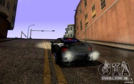 Lamborghini Gallardo Superleggera para GTA San Andreas vista superior