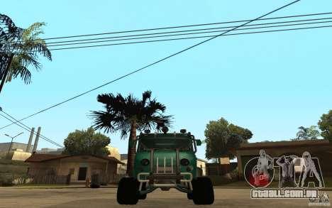 Pão de UAZ de difícil Off-Road para GTA San Andreas vista direita