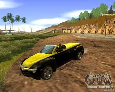 Chevrolet SSR para GTA San Andreas vista traseira