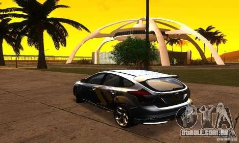 Ford Focus 3 para GTA San Andreas esquerda vista