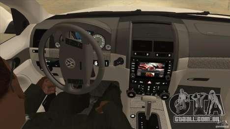 Volkswagen Touareg R50 para vista lateral GTA San Andreas