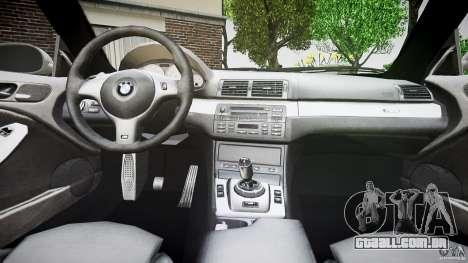 BMW M3 e46 v1.1 para GTA 4 vista inferior