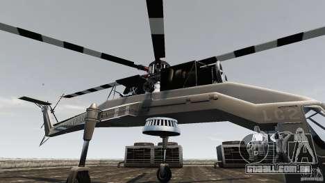 SkyLift Helicopter para GTA 4 vista de volta