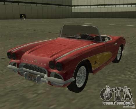 Chevrolet Corvette 1961 para GTA San Andreas