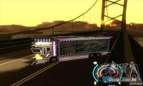 Caminhão japonês para GTA San Andreas esquerda vista