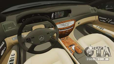 Mercedes-Benz CL65 AMG v1.1 para GTA 4 vista interior
