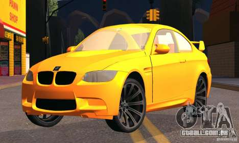 BMW M3 para GTA San Andreas vista direita