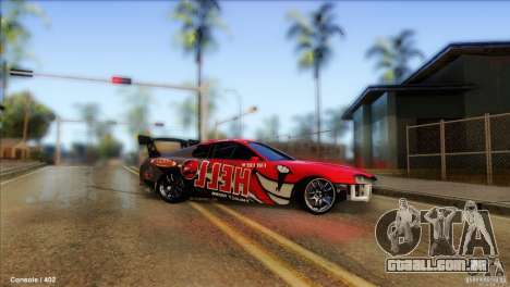 Toyota Supra HELL para GTA San Andreas traseira esquerda vista