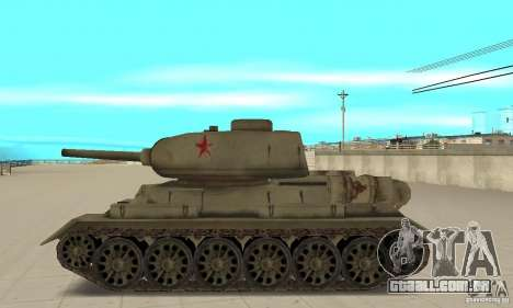 Tanque T-34-85 para GTA San Andreas esquerda vista