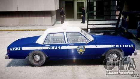 Chevrolet Impala Police 1983 [Final] para GTA 4 traseira esquerda vista