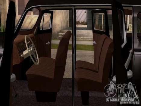 ZiS 110 para GTA San Andreas vista interior