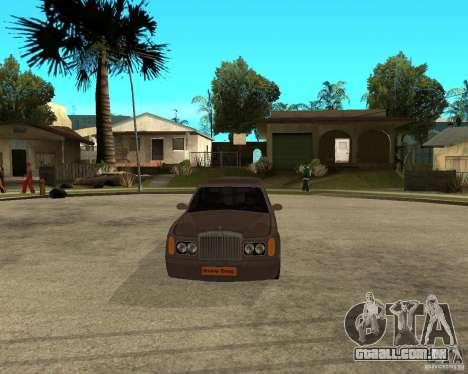 Rolls Royce Silver Seraph para GTA San Andreas vista traseira