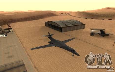 B1-B LANCER para GTA San Andreas vista interior