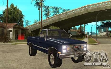 GMC Sierra 1986 para GTA San Andreas vista traseira