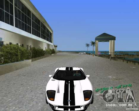 Ford GT para GTA Vice City deixou vista