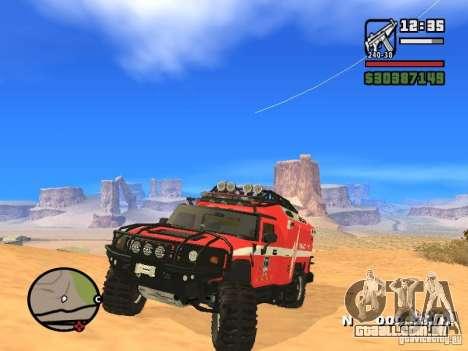 HZS Hummer H2 para GTA San Andreas vista direita