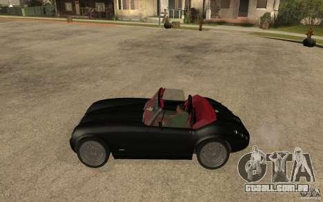Wiesmann Roadster MF3 para GTA San Andreas esquerda vista