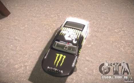 Ford Mustang Monster Energy para GTA San Andreas traseira esquerda vista