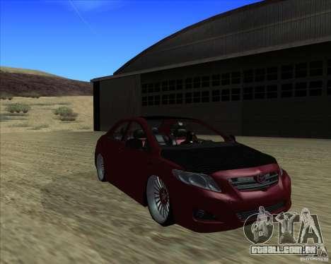 Toyota Corolla 2008 Tuning para GTA San Andreas traseira esquerda vista
