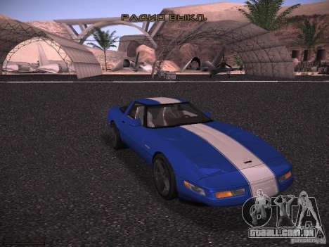 Chevrolet Corvette Grand Sport para GTA San Andreas vista interior