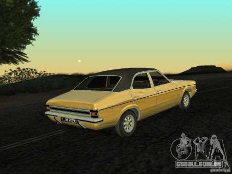 Ford Cortina MK 3 Life On Mars para GTA San Andreas esquerda vista