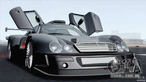 Mercedes-Benz CLK GTR Race Car para GTA San Andreas vista direita