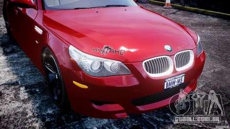 BMW M5 E60 2009 para GTA 4 rodas
