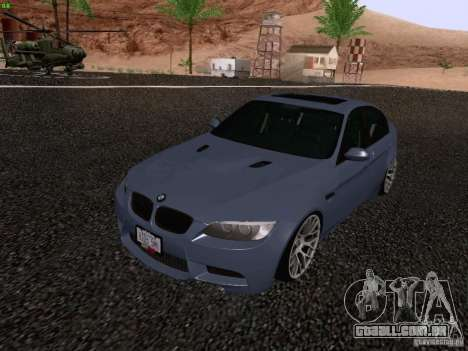 BMW M3 E90 Sedan 2009 para GTA San Andreas vista direita