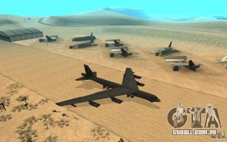 Boeing B-52 Stratofortress para GTA San Andreas vista direita