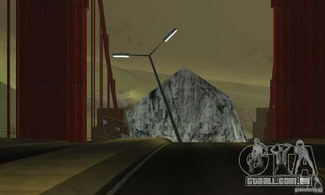 Ponte destruída em San Fierro para GTA San Andreas quinto tela