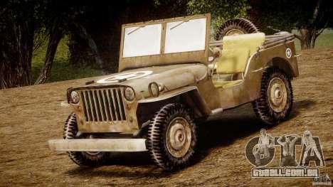Jeep Willys [Final] para GTA 4 esquerda vista