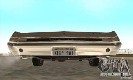 Pontiac GT-100 para GTA San Andreas traseira esquerda vista