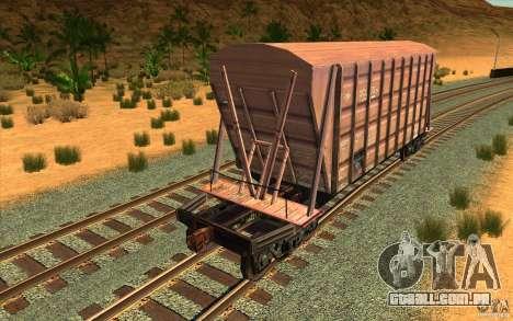 Hopper para GTA San Andreas traseira esquerda vista