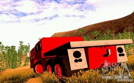 Maz-7310 Civil versão estreita para GTA San Andreas traseira esquerda vista