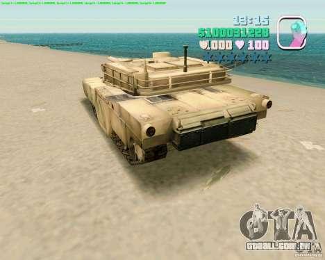 M 1 A2 Abrams para GTA Vice City por diante tela