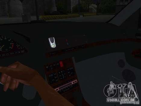 Mercedes-Benz S600 W140 v 2.0 para vista lateral GTA San Andreas