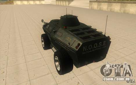 APCS do GTA TBOGT 4 Original com textura para GTA San Andreas traseira esquerda vista