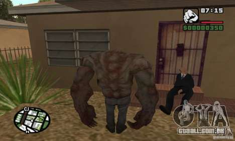 Tanque do Left 4 Dead para GTA San Andreas segunda tela