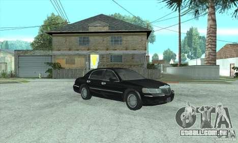 Lincoln Town Car 2002 para GTA San Andreas traseira esquerda vista